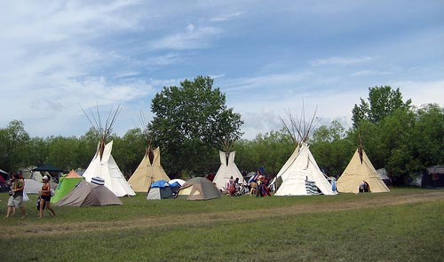 Tipi Town - At the Winnipeg Folk Festival campground