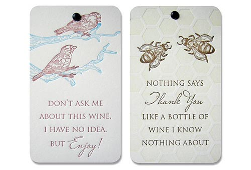 Popptags wine tags available featuring my illustrations