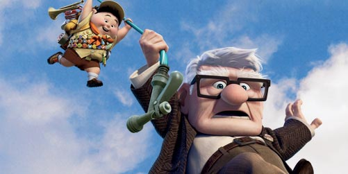 Russell and Carl in Pixar's Up